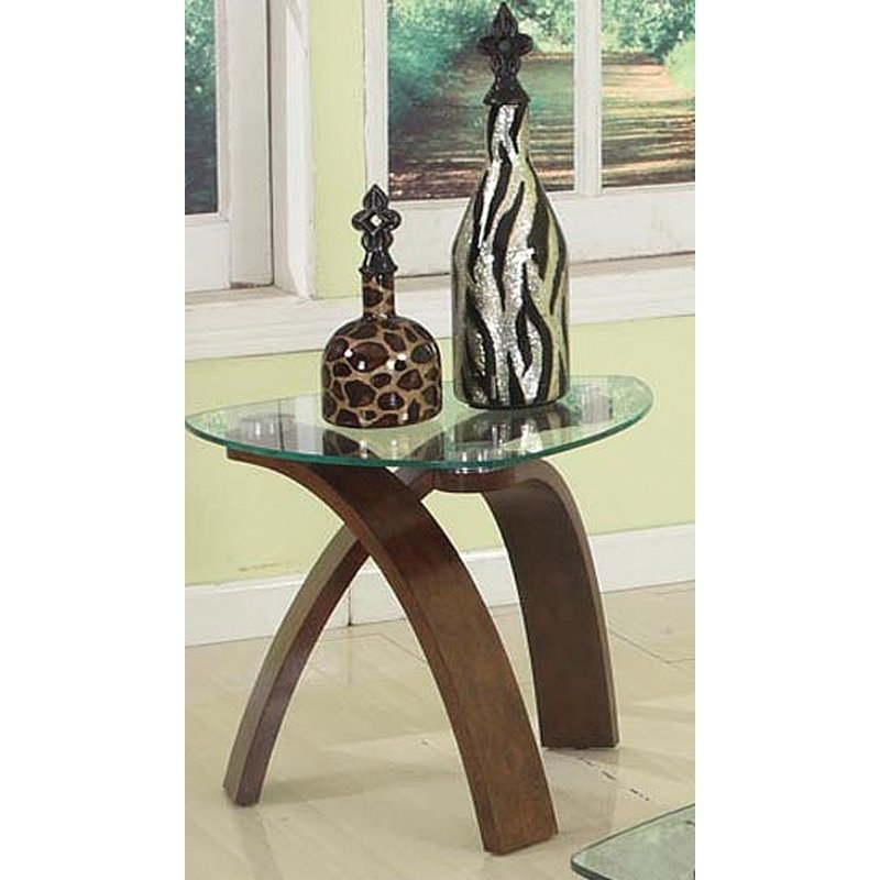 Brassex Teagan End Table | Wayfair With Regard To Teagan Extension Dining Tables (View 22 of 25)