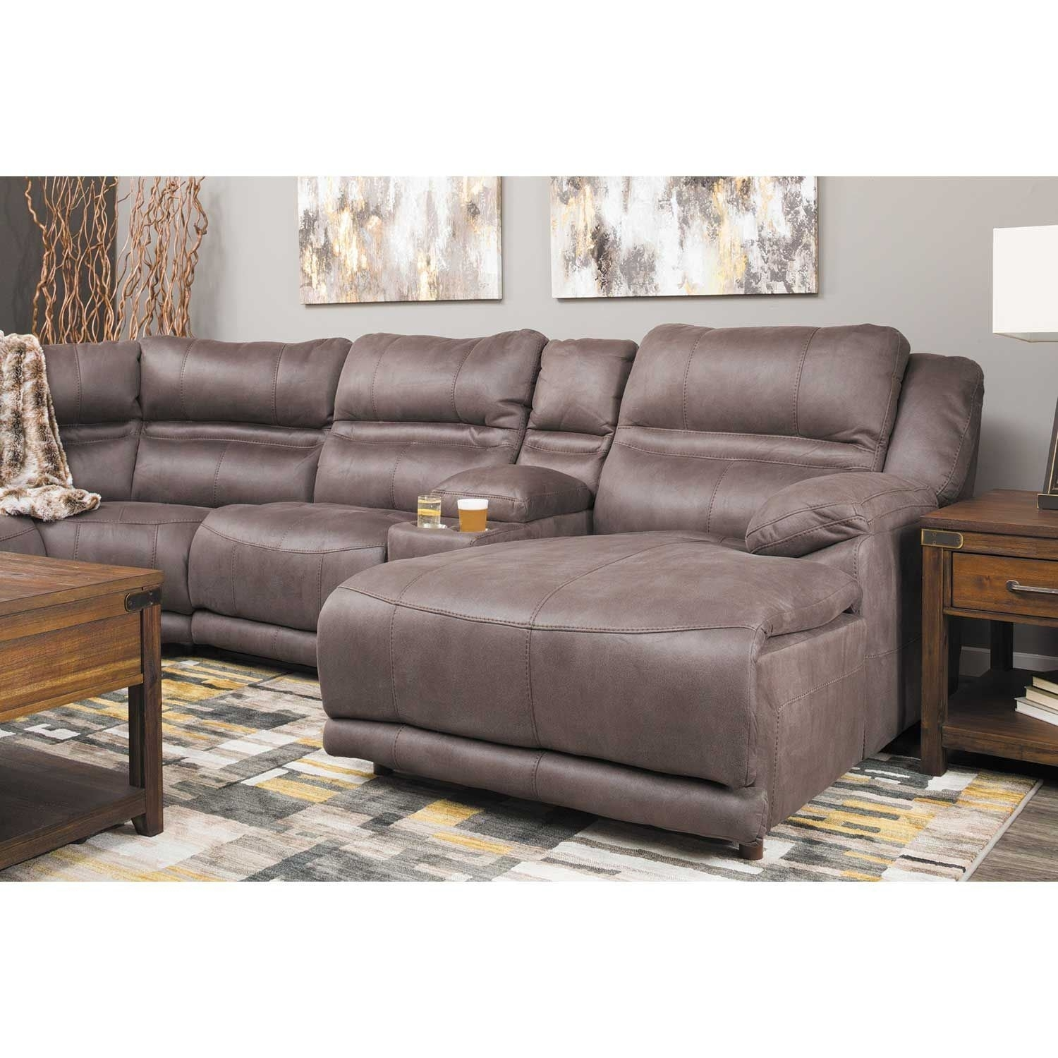 Braxton 6 Piece Power Reclining Sectional With Adjustable Headrest Within Jackson 6 Piece Power Reclining Sectionals With  Sleeper (Image 9 of 25)
