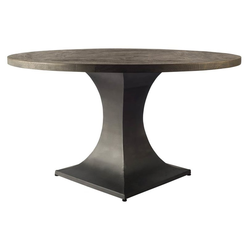 Brayden Studio Daniela Mango Wood Dining Table | Wayfair In Mango Wood/iron Dining Tables (View 24 of 25)