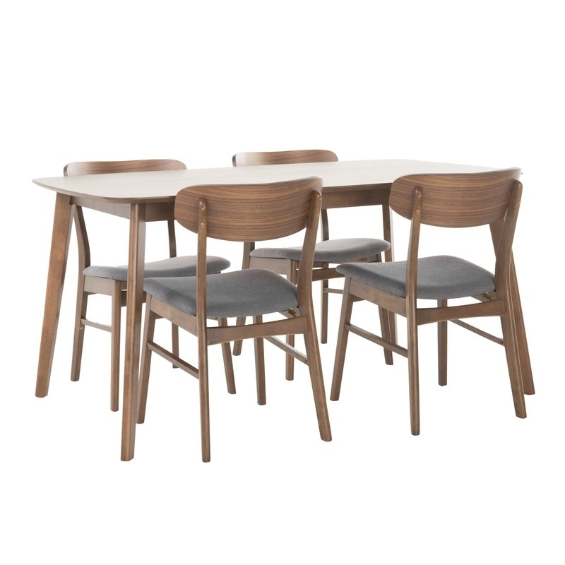 Brayden Studio Feldman 5 Piece Dining Set & Reviews | Wayfair With Regard To Chandler 7 Piece Extension Dining Sets With Wood Side Chairs (View 18 of 25)