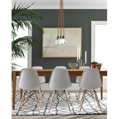 Brayden Studio Hickory 7 Light Cluster Pendant In 2018 | Products With Combs 5 Piece Dining Sets With  Mindy Slipcovered Chairs (Image 6 of 25)