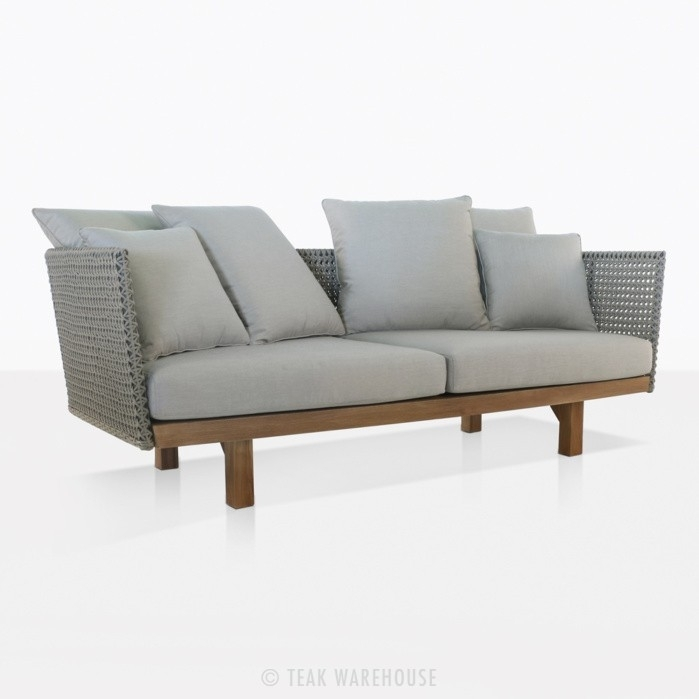 Brazil Rope & Teak Outdoor Sofas | Patio Furniture | Couch | Teak Regarding Outdoor Brasilia Teak High Dining Tables (View 18 of 25)