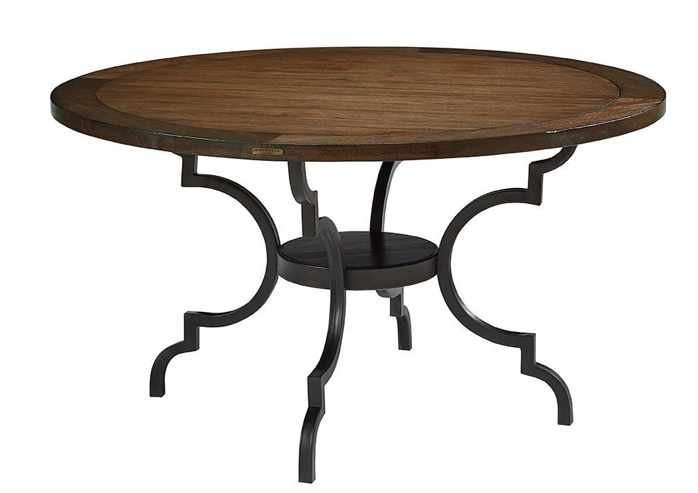 Breakfast Table – Magnolia Home Throughout Magnolia Home Breakfast Round Black Dining Tables (View 4 of 25)