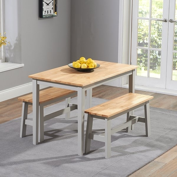 Breakwater Bay Beecher Falls Dining Set With 2 Benches & Reviews Throughout Dining Tables And 2 Benches (Image 5 of 25)