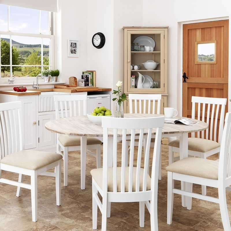 Breakwater Bay Chatham Extendable Dining Table And 6 Chairs Intended For Extendable Dining Tables 6 Chairs (Image 7 of 25)