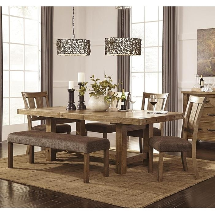 Breathtaking 7 Piece Dining Set With Bench Tips | Bank Of Ideas Inside Partridge 7 Piece Dining Sets (Image 8 of 25)