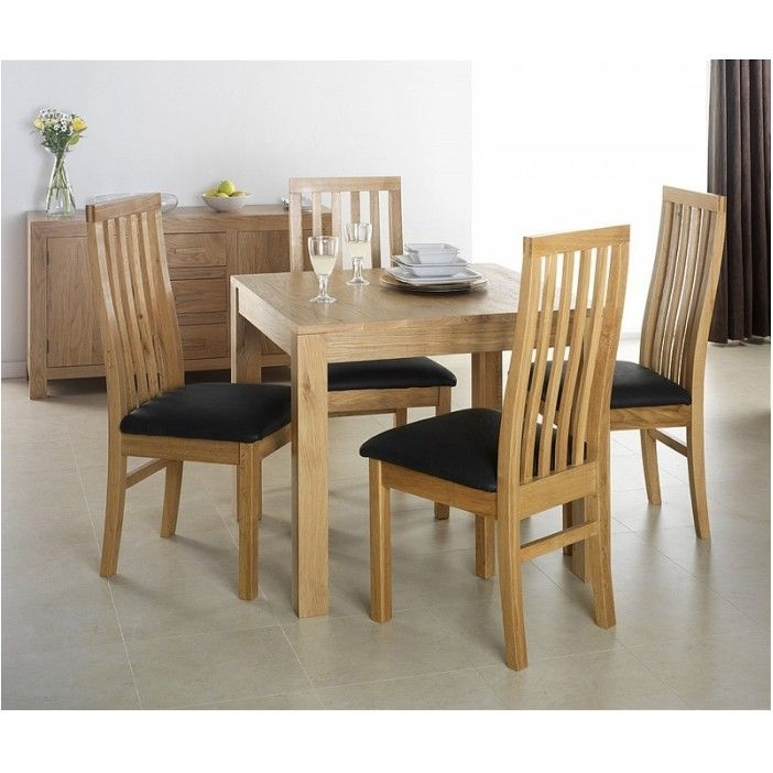 Breathtaking Cuba Oak Square Oak Dining Table With 4 Chairs With Regard To Oak Dining Tables And 4 Chairs (View 6 of 25)