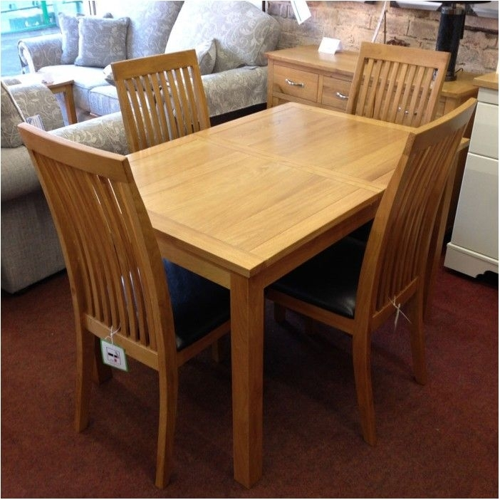 Breathtaking Extending Oak Dining Table With 4 Chairs Flintshire With Regard To Glass And Oak Dining Tables And Chairs (View 13 of 25)