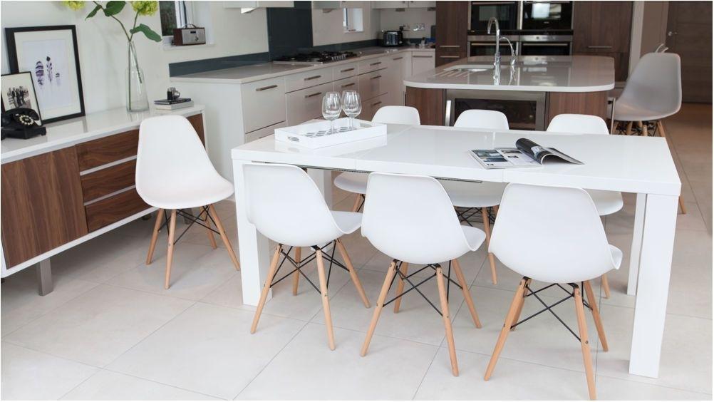 Breathtaking Fern White Gloss Extending Dining Table Uk Extendable Within White Gloss Dining Sets (View 11 of 25)