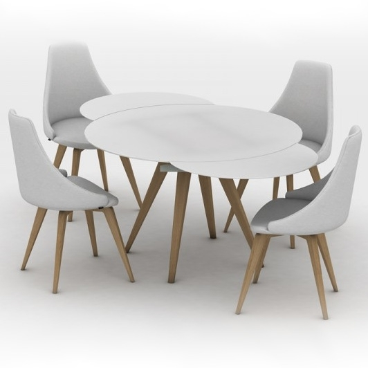 Brembo Round Glass Extending Dining Table Pertaining To Extending Glass Dining Tables (Image 2 of 25)