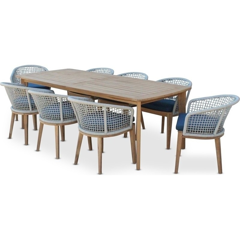 Brighton 8 Seat Pe Wicker Outdoor Dining Setting | Buy 8 Seat Dining In 8 Seat Outdoor Dining Tables (View 8 of 25)