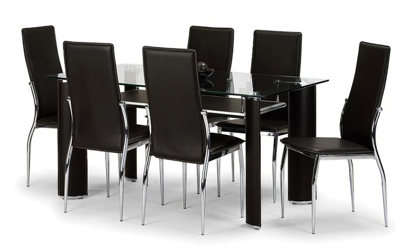 Brilliant 6 Seater Dining Table And Chairs Round Dining Table Set Throughout 6 Seater Glass Dining Table Sets (Image 7 of 25)