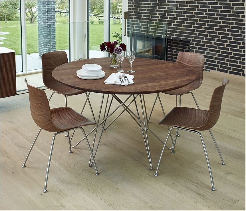 Brilliant Amazon Track Circular Dining Table Black Tables – Circular Inside Black Circular Dining Tables (Image 7 of 25)