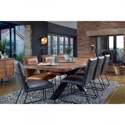 Broadway 200Cm Dining Table + 6 Cooper Dining Chairs Pertaining To Cooper Dining Tables (Image 3 of 25)