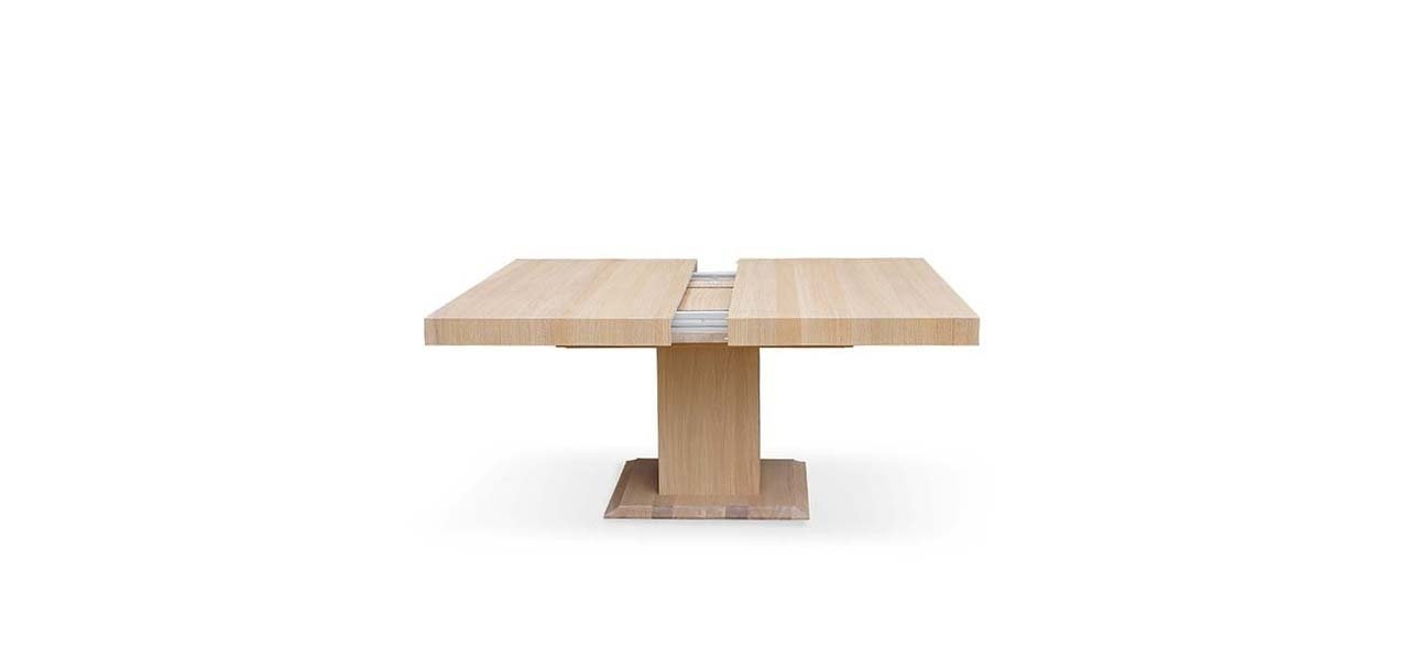Brompton Square Dining Table, A Contemporay Pedestal Dining Table With Square Extending Dining Tables (Image 5 of 25)