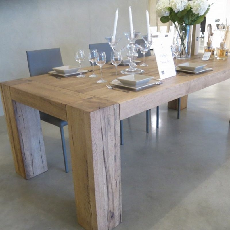 Brooklyn Solid Oak Dining Table With Column Legs | Port Wood Within Solid Oak Dining Tables (Image 4 of 25)