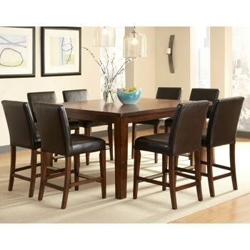 Brookshire 9 Pc Counter Height Dining Set – Costco | Kitchen Dining With Regard To Caden 6 Piece Rectangle Dining Sets (Image 3 of 25)