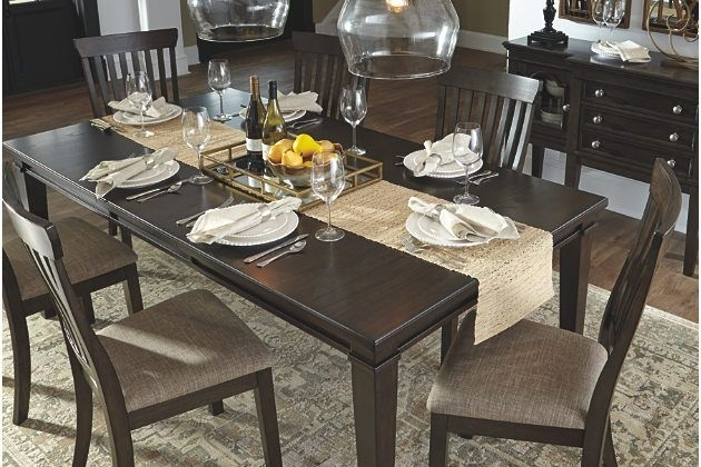 Brown Alexee Dining Room Table View 3 | <3 House Stuff | Pinterest Throughout Chandler 7 Piece Extension Dining Sets With Fabric Side Chairs (View 17 of 25)