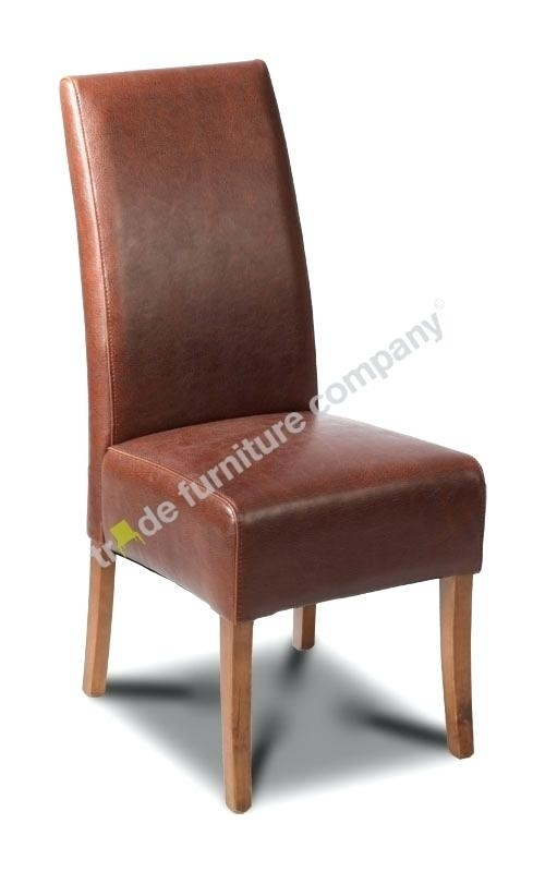 Brown Dining Chairs Brown High Back Dining Chair Brown Dining Room Intended For Dark Brown Leather Dining Chairs (Image 5 of 25)