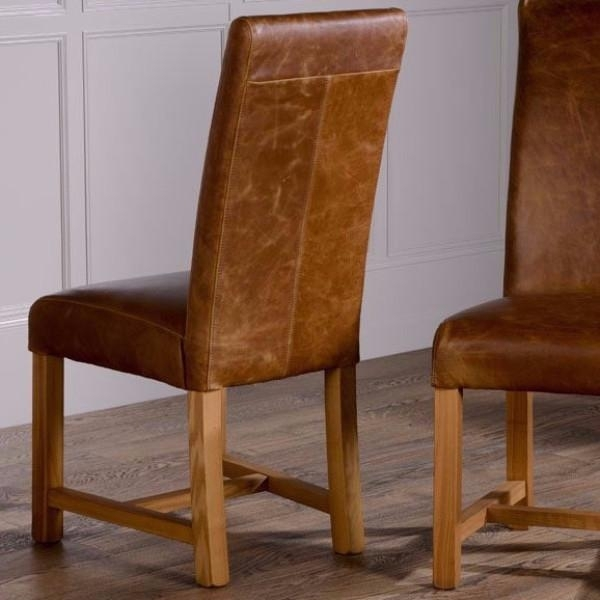 Brown Leather Dining Chair – Thetastingroomnyc With Dark Brown Leather Dining Chairs (Image 6 of 25)