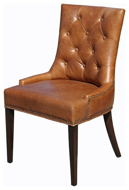 Brown Leather Dining Chairs To Make Work In Your Interior Regarding Brown Leather Dining Chairs (View 5 of 25)