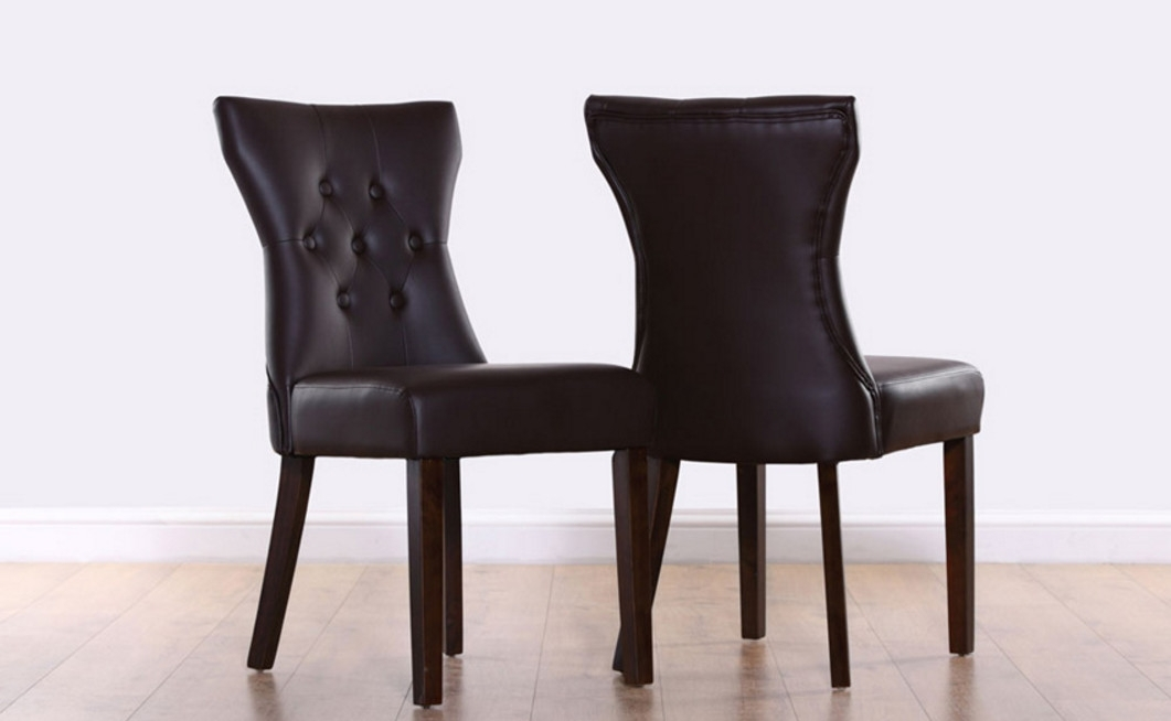 Brown Leather Dining Chairs With Dark Legs – Why Brown Dining Chairs For Dark Brown Leather Dining Chairs (Image 7 of 25)