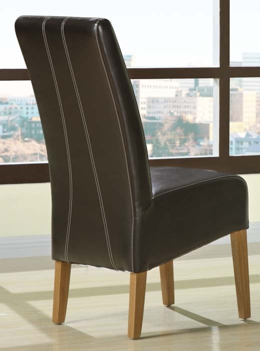 Brown Leather Dining Room Chairs Uk | Dining Chairs Design Ideas Regarding Dark Brown Leather Dining Chairs (Image 8 of 25)
