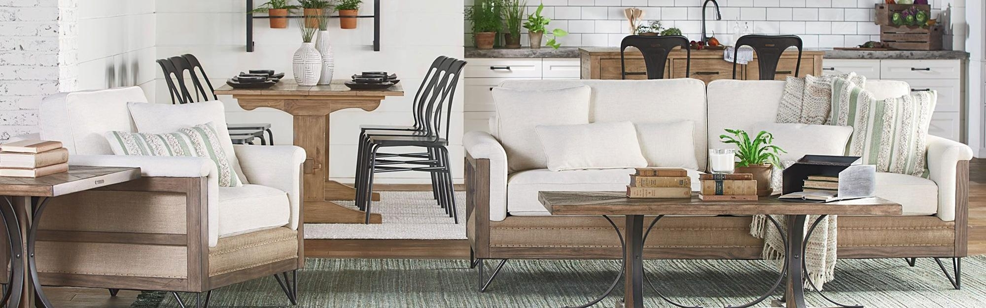 Brown Magnolia Home Living Room | Living Spaces With Magnolia Home Homestead 4 Piece Sectionals By Joanna Gaines (Image 3 of 25)