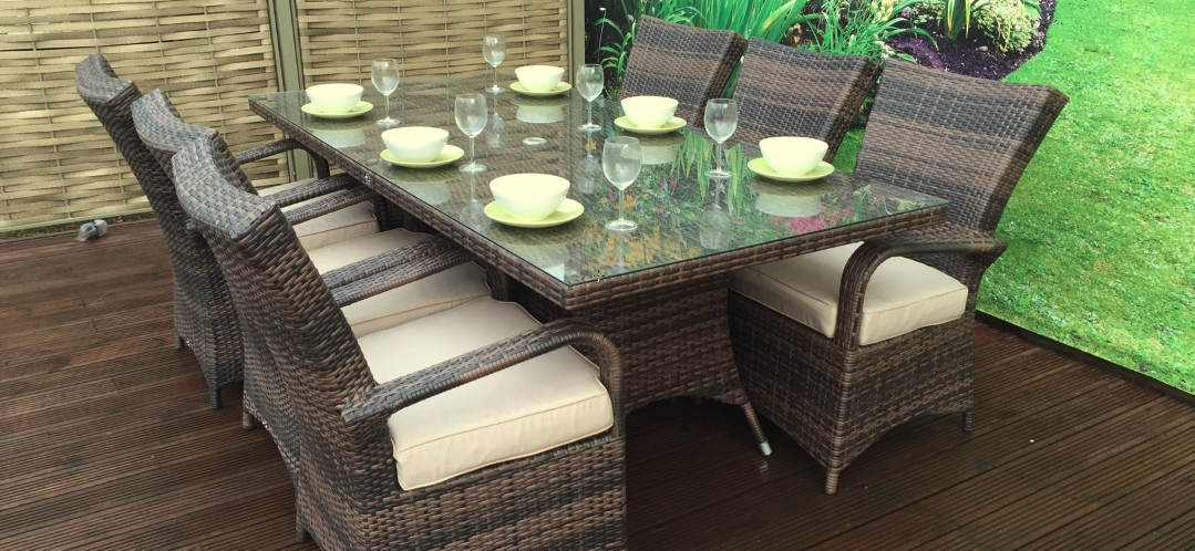 Brown Rattan Dining Set, Brown Rattan Dining – Furniture For Modern Throughout Rattan Dining Tables (View 25 of 25)