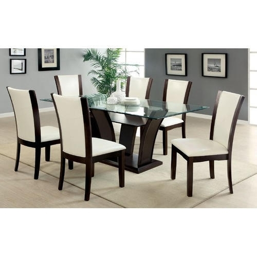 Brown, White 6 Seater Modern Dining Table, Rs 20000 /set | Id With Six Seater Dining Tables (Photo 5 of 25)