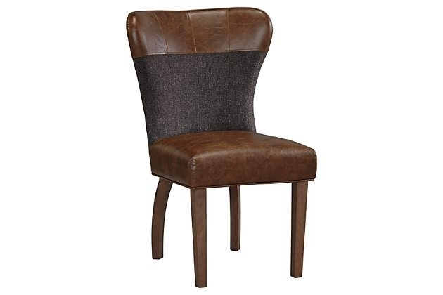 Brown Zenfield Dining Room Chair (Set Of 2)Ashley Homestore for Caira Black 5 Piece Round Dining Sets With Diamond Back Side Chairs