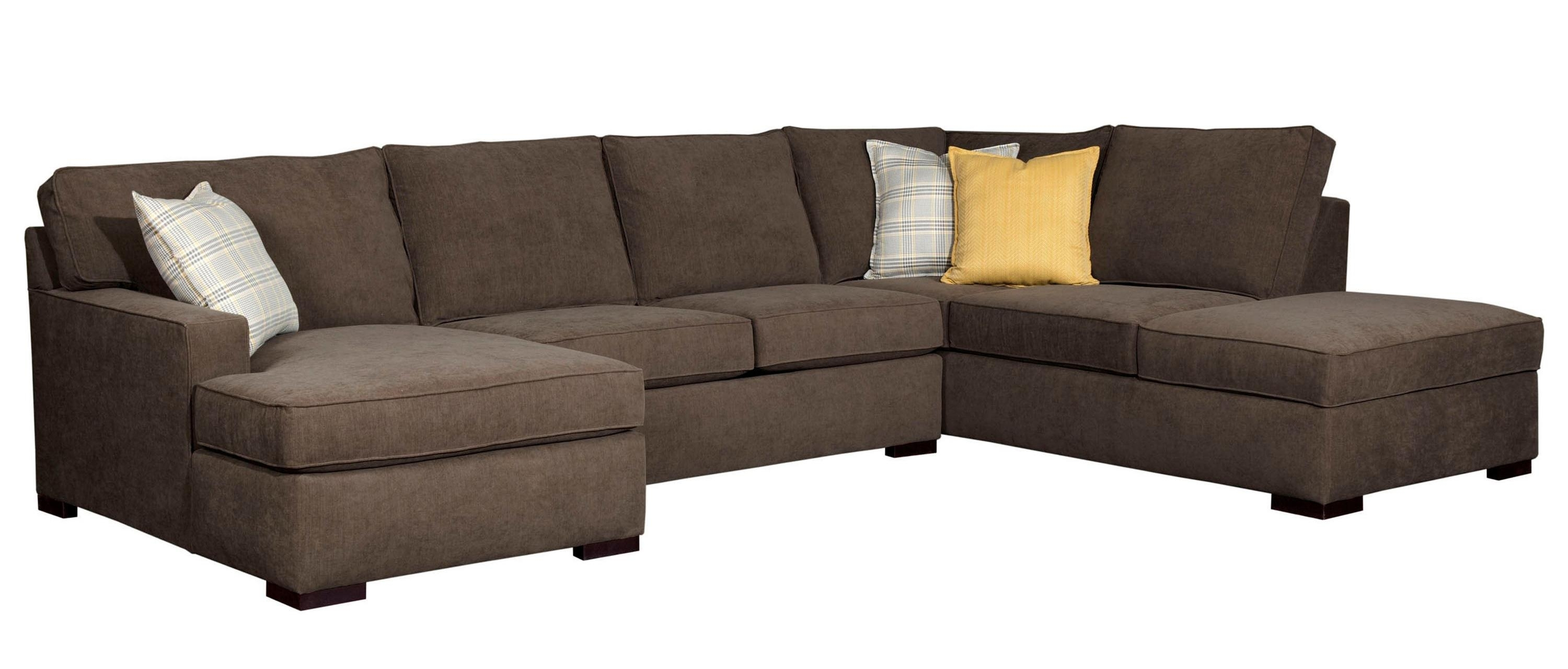 Broyhill Furniture Raphael Contemporary Sectional Sofa With Laf Pertaining To Norfolk Grey 6 Piece Sectionals With Laf Chaise (Image 5 of 25)