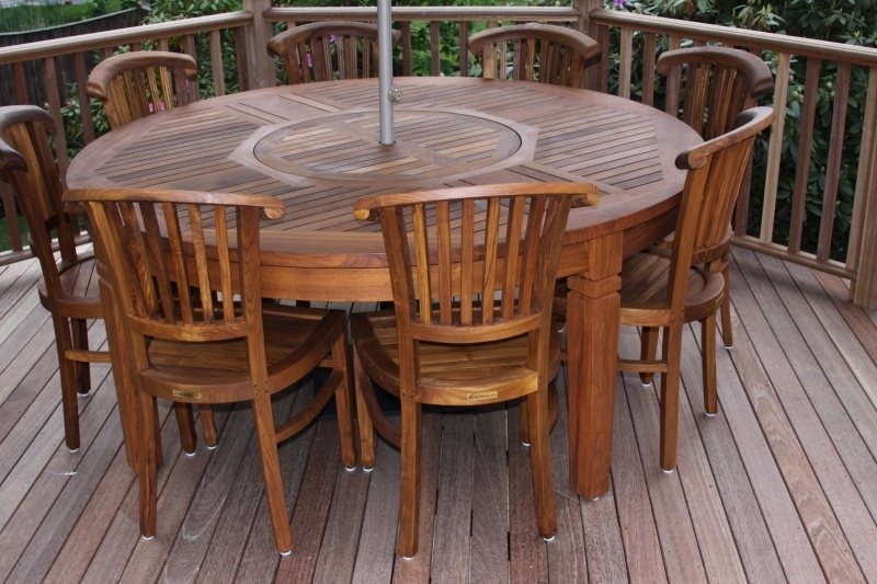 Bryn Athyn Teak Round Table [6Bryn Tbl 72] – $2, (View 16 of 25)