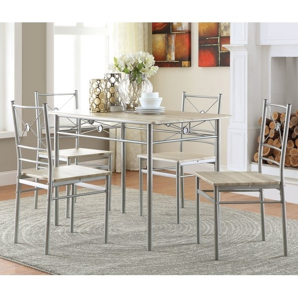 Budget Friendly Dining Sets | Wayfair Pertaining To Craftsman 7 Piece Rectangular Extension Dining Sets With Arm & Uph Side Chairs (Image 9 of 25)