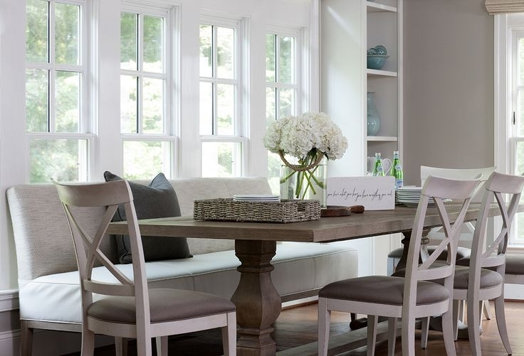 Built In Dining Bench Design Ideas Throughout Bench With Back For Dining Tables (Image 4 of 25)