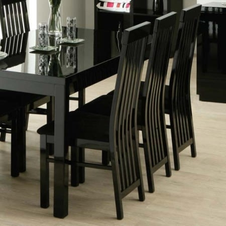 Bujovky Black Gloss Dining Table And 6 Chairs 2018 John Lewis Dining With Black High Gloss Dining Tables And Chairs (Image 5 of 25)