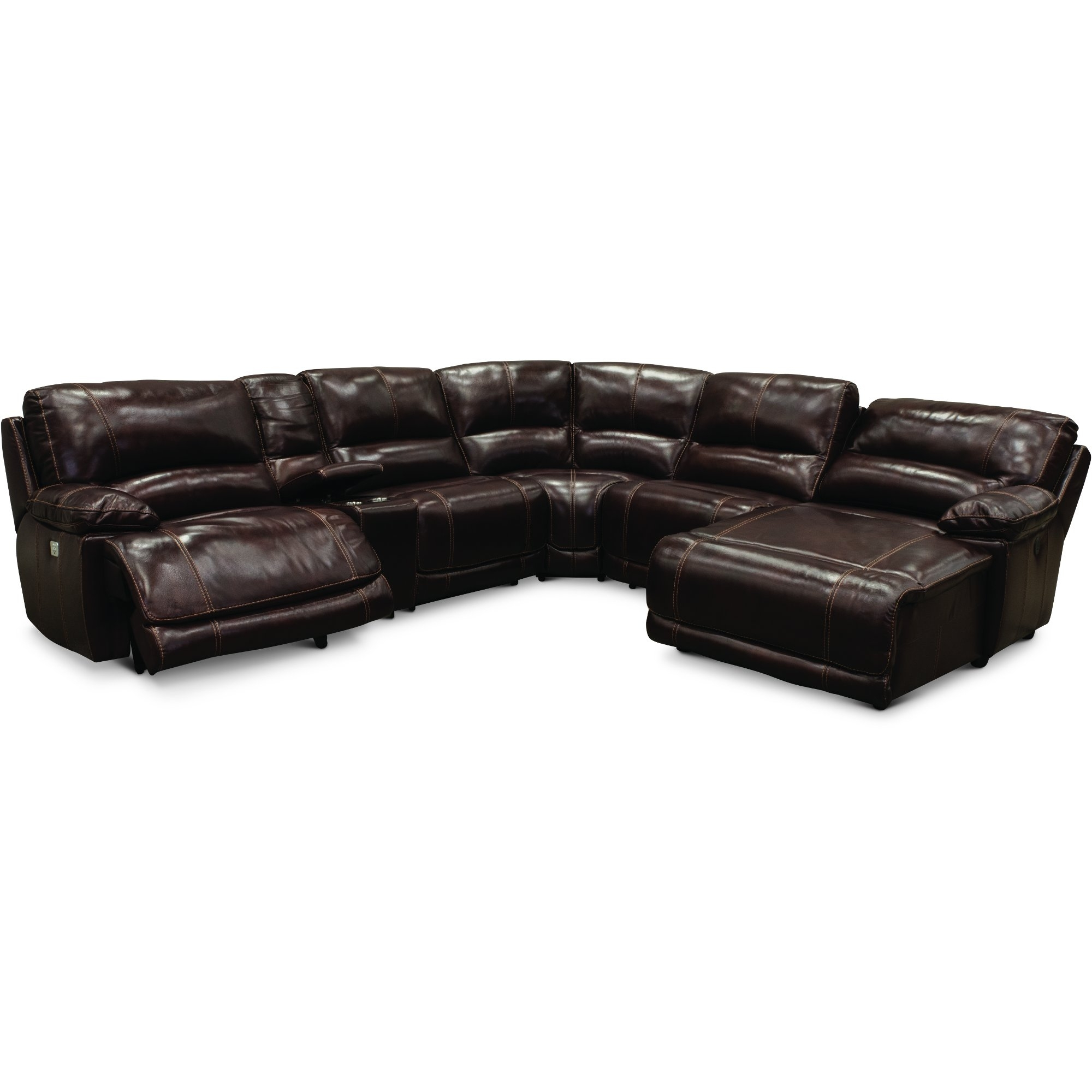 Burgundy 6 Piece Power Reclining Sectional Sofa – Brant | Rc Willey Intended For Jackson 6 Piece Power Reclining Sectionals With  Sleeper (Image 10 of 25)