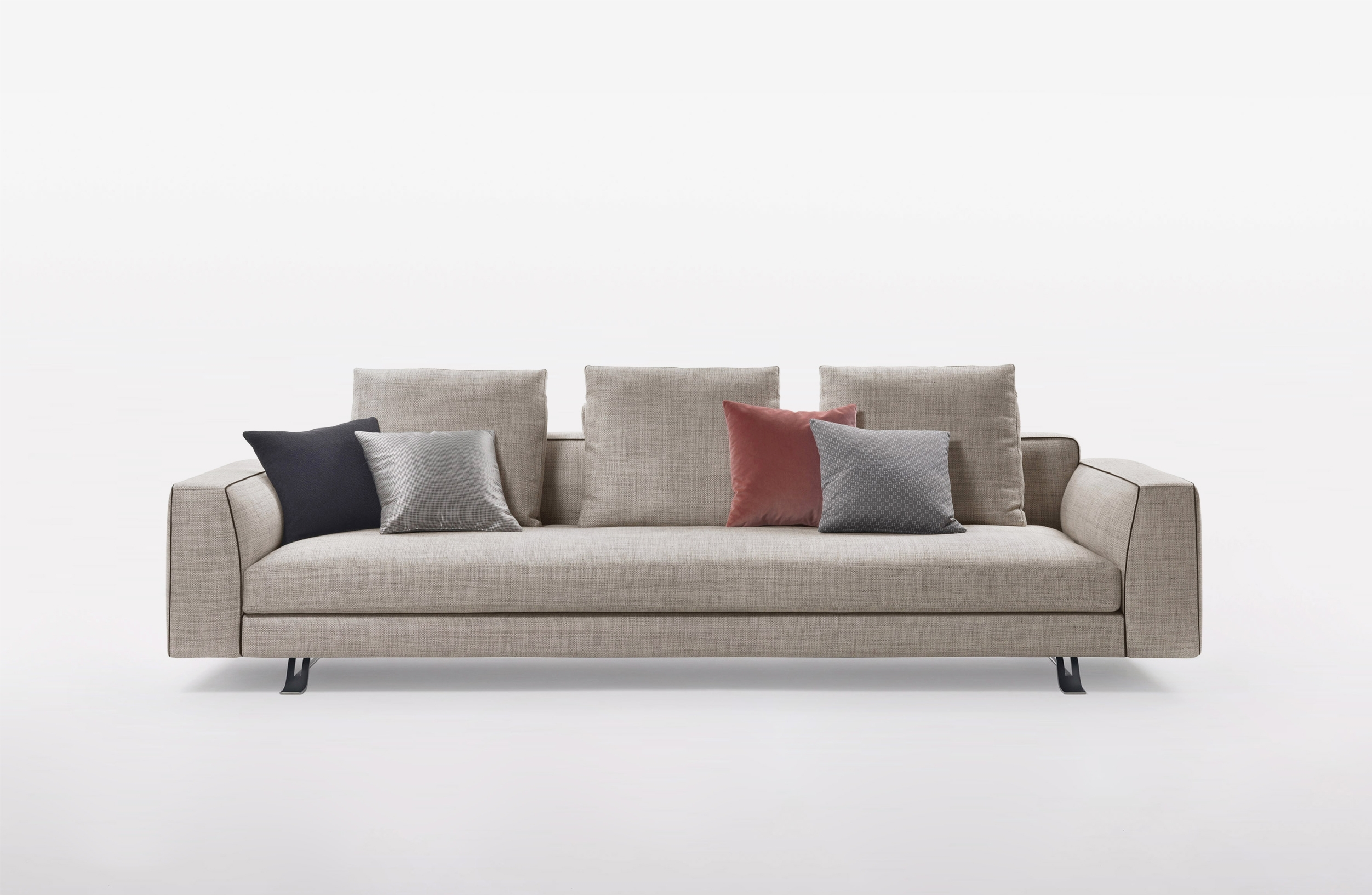 Burton – Toan Nguyen In Burton Leather 3 Piece Sectionals With Ottoman (Image 5 of 25)