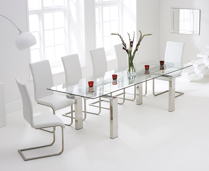 Featured Image of Glass Extendable Dining Tables And 6 Chairs