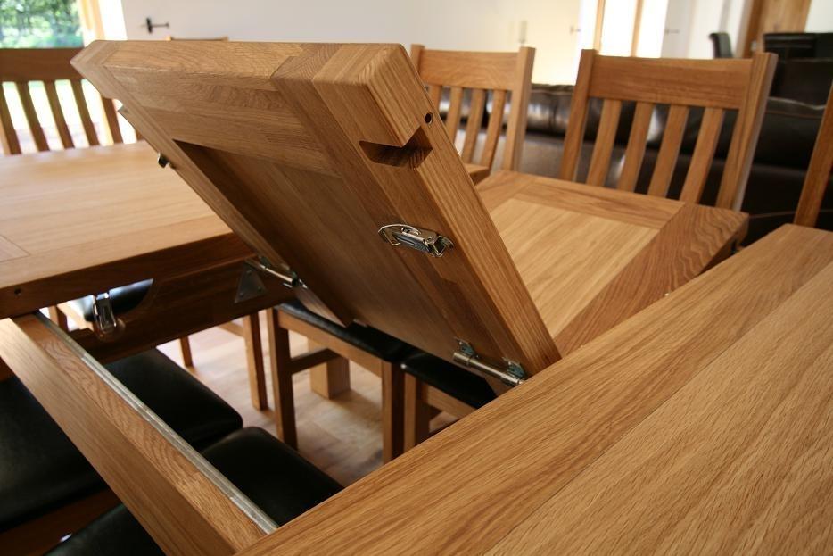 Butterfly Extending Tables | Extending Oak Dining Tables With Oak Extending Dining Sets (Image 3 of 25)