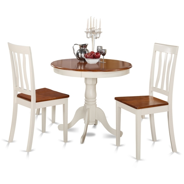 Buttermilk And Cherry Kitchen Table And Two Chair Dining Set Inside Two Chair Dining Tables (Image 4 of 25)