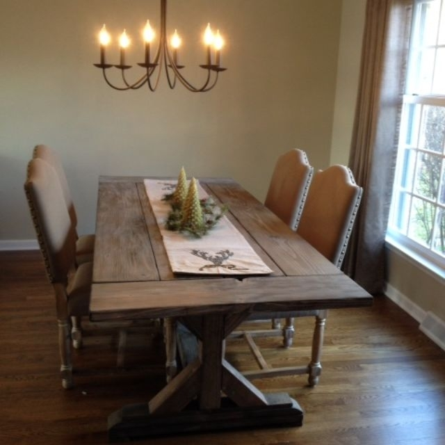 Buy A Hand Crafted Fancy X Farmhouse Table With Extensions Intended For Rustic Dining Tables (Image 3 of 25)
