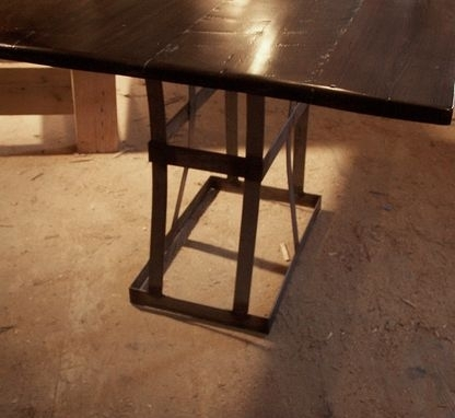 Buy A Handmade Reclaimed Wood Dining Table With Contemporary Metal Pertaining To Iron And Wood Dining Tables (Image 6 of 25)