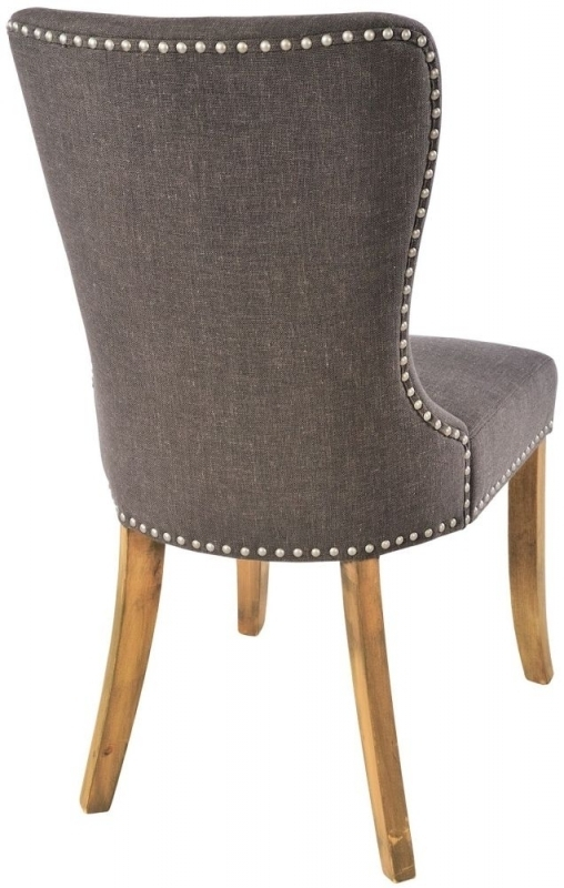 Buy Adelf Button Back Tiara Grey Fabric Dining Chair (Pair) Online With Button Back Dining Chairs (Image 6 of 25)