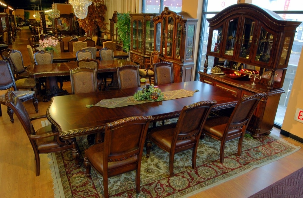 Buy Antoinette Dining Room Set In Cherry – Mahogany Finishsteve Inside Mahogany Dining Table Sets (Image 7 of 25)
