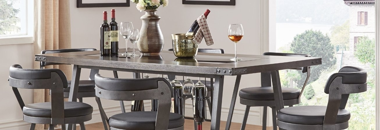 Buy Bar & Pub Table Sets Online At Overstock | Our Best Dining For Wyatt 6 Piece Dining Sets With Celler Teal Chairs (Image 11 of 25)
