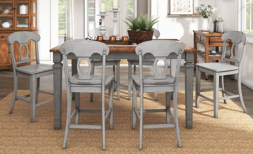 Buy Bar & Pub Table Sets Online At Overstock | Our Best Dining Regarding Wyatt 6 Piece Dining Sets With Celler Teal Chairs (Image 13 of 25)