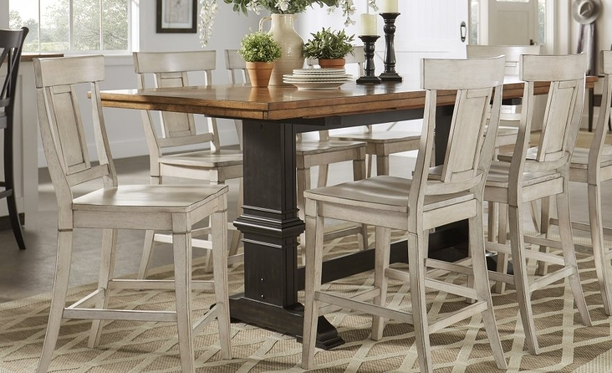 Featured Image of Wyatt 7 Piece Dining Sets With Celler Teal Chairs
