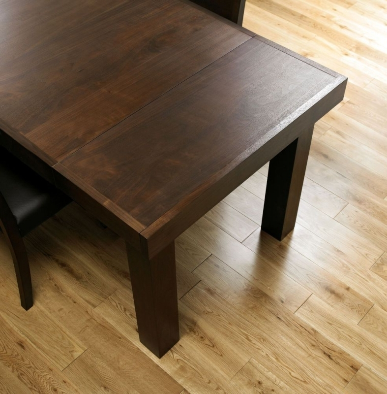 Buy Bentley Designs Akita Walnut Rectangular Extending Dining Table Pertaining To 4 Seater Extendable Dining Tables (Image 9 of 25)