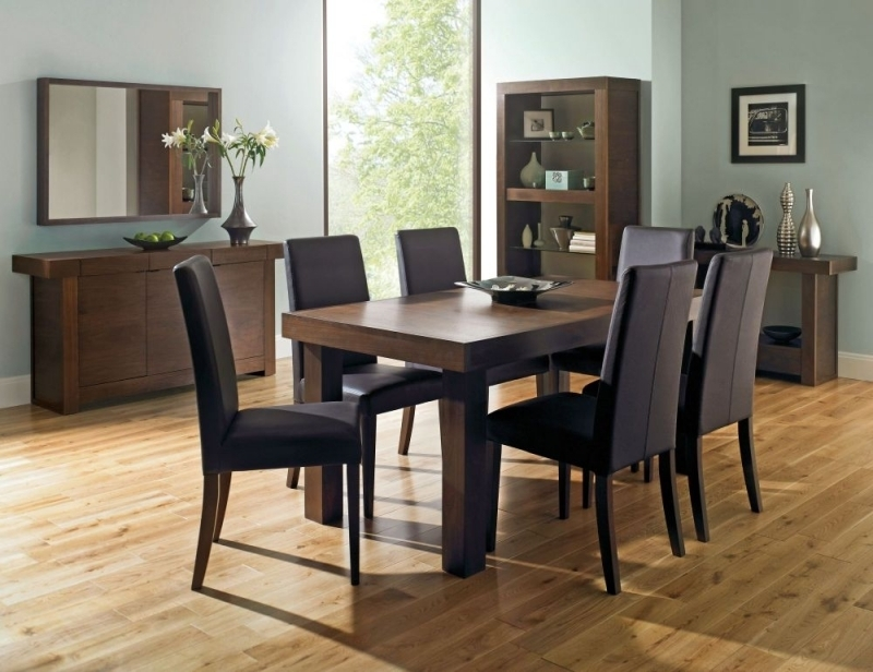 Buy Bentley Designs Akita Walnut Rectangular Extending Dining Table With Walnut Dining Table Sets (Image 6 of 25)